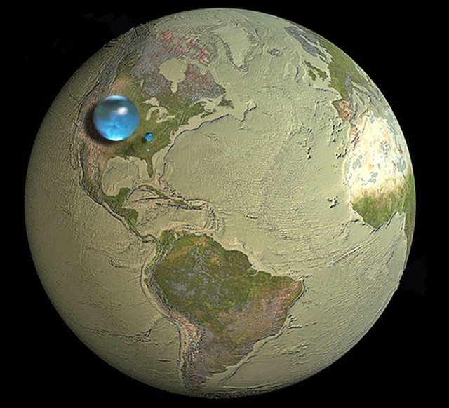Global Water Volume, from the USGS